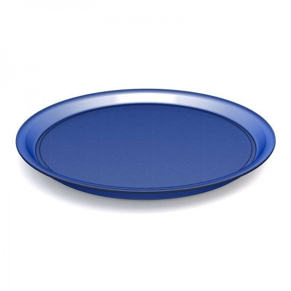 Ornamin-Tablett, Ø 37 cm, blau