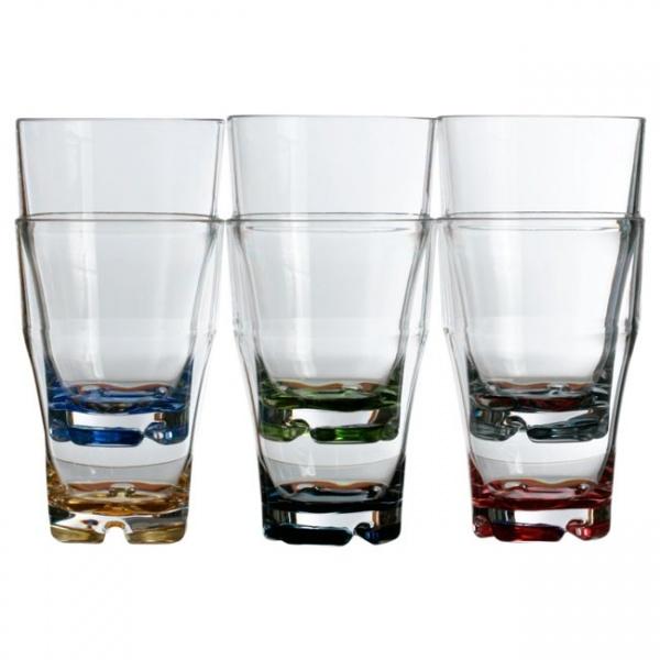 "MARINE BUSINESS - ""PARTY"" - Wasserglas-Set, 6 tlg, farbig sortiert"