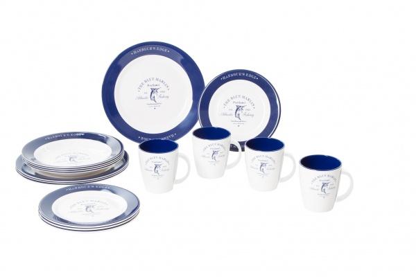 Gimex - Blue Marlin - Geschirrset 16 tlg