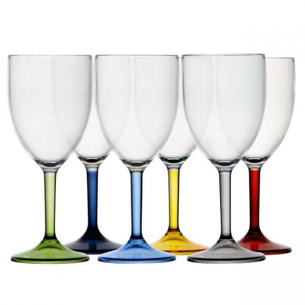 "MARINE BUSINESS - ""PARTY"" - Weinglas-Set, 6 tlg, farbig sortiert"
