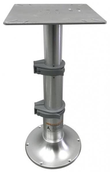 Tischfuß, verstellbar mittels Gasdruckzylinder in 3 Stufen, Höhenverstellung: 33 - 70 cm