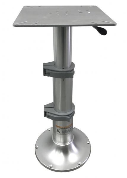 Tischfuß, stufenlos verstellbar mittels Gasdruckzylinder, Höhenverstellung: 33 - 70 cm