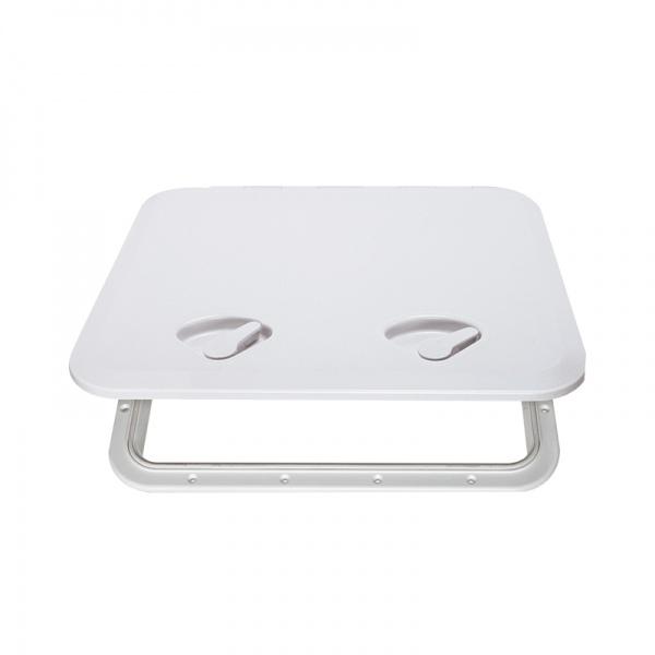 Seaflo Revisionsklappe mit Verriegelung, 2 Verschlussriegel, 606x353mm, weiß