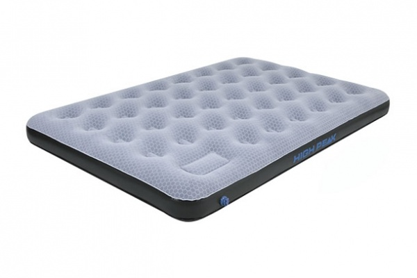 HIGH PEAK - Luftbett Comfort Plus Duo, grau/blau/schwarz