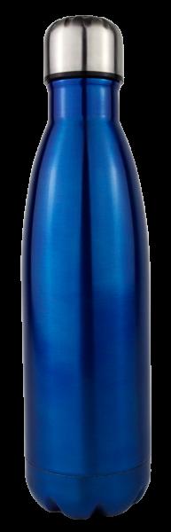 Gimex - Thermoflasche, 500ml, blau-metallic