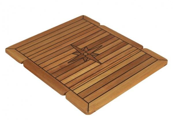 EUDE - Teak Tischplatte Wing Stabdeckdesign, 34/68 x 80cm