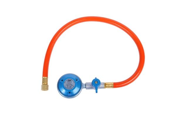 CADAC - EN417 Gasdruckregler / Druckminderer mit Schlauch für Gaskartuschen, 50 mbar