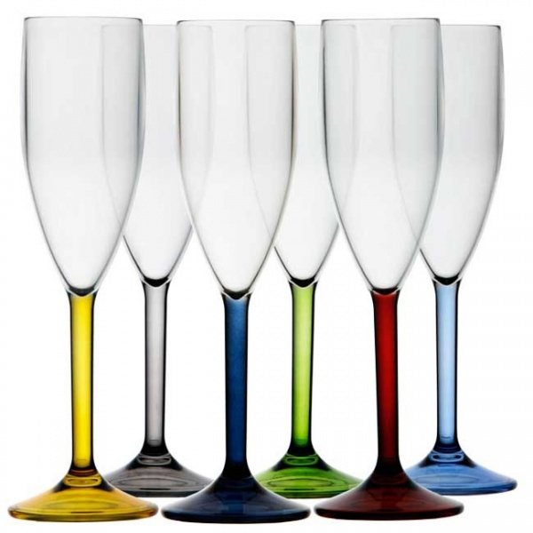 """MARINE BUSINESS - """"PARTY"""" - Champagnerglas-Set, 6 tlg, farbig sortiert"""